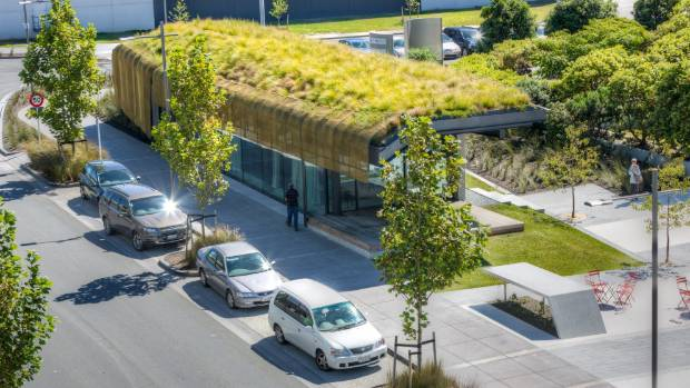 Auckland International Airport's interactive building Te Kaitaka - The Cloak has a living green roof.