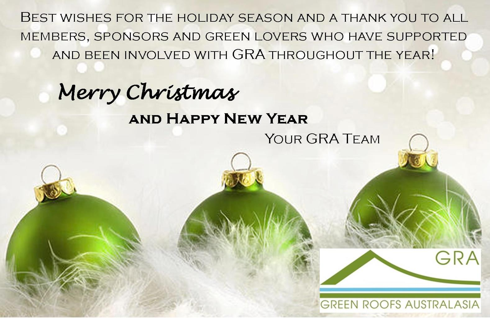 Seasons Greetings And A Happy New Year Green Roofs Australasia
