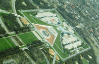 The green roof of Parliament House from above Photo by Carl Davies