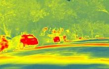 Thermal heat map readings with canopy